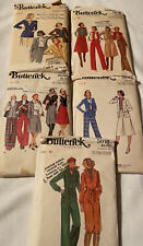 Vintage Lot Of 5 Butterick Sewing Patterns 1970'S