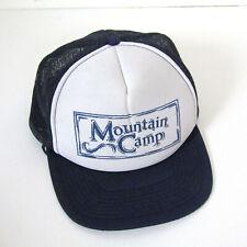 Navy Blue TRUCKER HAT MOUNTAIN CAMP Net Snapback Cap Farm Business Trucker Mesh