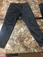Adidas Women's 3 Strips Fleece CLASSIC LOGO BLACK MEDIUM LEGGINGS  PANTS JOGGERS