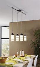 LED Pendelleuchte Eglo Olvero 93905 Hängelampe 4x 7 Watt Esszimmer Glas