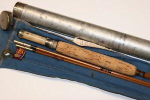 Heddon bamboo fly rod #10 Blue Waters w/original sock & tube NR