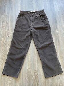 1970/'s Vintage Gap Corduroy Jeans Green 3229 Measured USA H12