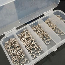 200pcs 4-7mm Stainless Steel Fishing Tackle Split Rings For Fish Snap Con XLD