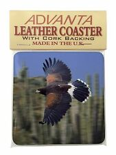 Flying Harris Hawk Bird of Prey Single Leather Photo Coaster Animal Bre, AB-54SC