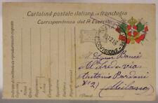 POSTA MILITARE 2^ DIVISIONE 23.12.1916 TIMBRO DI CENSURA #XP247C