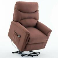 Microfiber Lift Chair Recline Padded Lounge Sofa Seat Living Room Remote Control