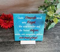 Dekofliese Wandbild Bildfliese Geschenkidee Fliese Spruch Freundschaft  (157)