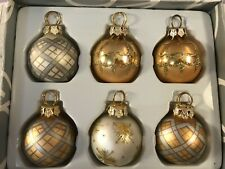 Christmas placecard holders set of 6 mercury glass balls Department 56 CH6613