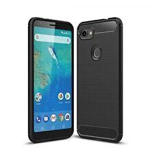 For Google Pixel 3a Case Carbon Fibre Gel Cover Ultra Slim Shockproof