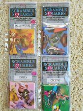 Scramble Squares 4 Puzzle Lot - Dolls, Cycling, Fall Festival, Covered Bridges