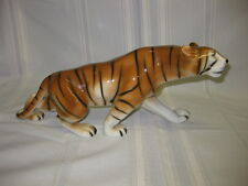 "Vintage Royal Dux Bohemia Tschechisches Porzellan 15"" Bengal Tiger Figur"