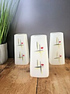1 60'S MID CENTURY MODERN ABSTRACT DESIGN WALL LIGHT SCONCE PLASTIC LAMP SHADE