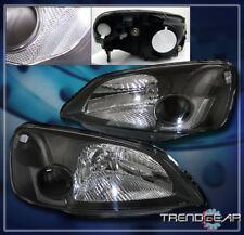 2001 2002 2003 HONDA CIVIC 2/4DR CRYSTAL HEADLIGHT LAMP JDM BLACK DX EX GX HX LX