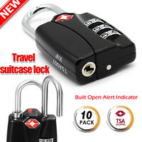 10Pcs TSA Security 3 Combination Travel Suitcase Luggage Bag Code Lock Padlock