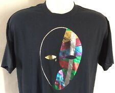 Vtg 80s 90s Mask T-Shirt Black L/XL 50/50 Tee Jays Made In USA