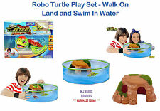 Robo Turtle Play Set - Walk On Land and Swim In Water