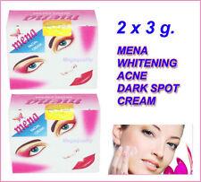 2 x MENA WHITENING CREAM ACNE FACIAL CREAM DARK SPOT LOOK YOUNGER FACE