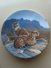 "Edwin Knowles Great Cats of the Americas ""The Ocelot"" Lee Cable w COA 1990"