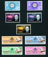 "Gambia 1965-66 selection of 3 commemorative sets incl.""Churchill""."