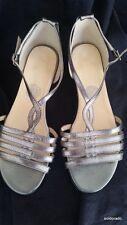 HALLHUBER Schuhe/Sandalen silber Gr.38 ***NEU