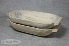 Holztrog große Holzschale naturbelassen Schale wikinger Wiking Props Foto