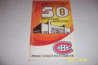 1974 75 MONTREAL CANADIENS Yearbook Guide SCOTTY BOWMAN Guy LAPOINTE Lafleur