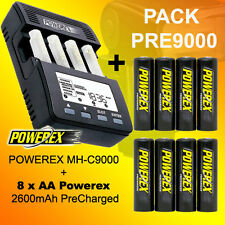 PACK PRE9000 - Caricabatterie Powerex MH-C9000 + 8 AA 2600 Precharged