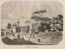 1865 Palazzo Chigi in Aricia Ariccia xilografia