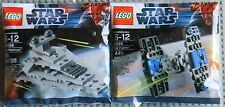 Lego Star Wars 30056 8026 Mini Imperial Star Destroyer & Tie Fighter, Promos New