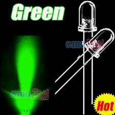50 PCS x 5mm Green Round LED Green Light