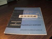 1955 HIGHLIGHTS OF AMERICAN RAILROAD HISTORY ASSOCIATION OF AMERICAN RAILROADS