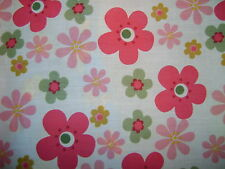 Flower Power Pink Polycotton Prints Craft/Dress Fabric SOLD BY 25M ROLL