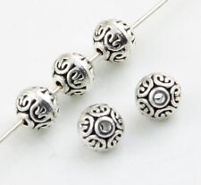 20pcs Tibetan Silver Flat round Spacer Beads 6.5x7mm
