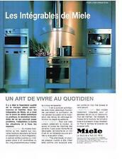 PUBLICITE  1998   MIELE    les cuisines INTEGRALES