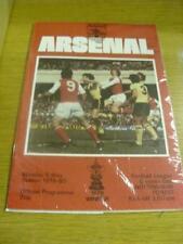 05/05/1980 Arsenal v Nottingham Forest  . Item In very