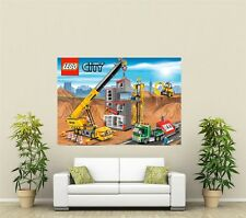 Lego City Construction Site Giant 1 Piece  Wall Art Poster VG140