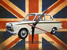 CLASSIC BRITISH MK1 LOTUS CORTINA METAL CLOCK