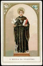 antico santino cromo-holy card S.NICOLA DA TOLENTINO