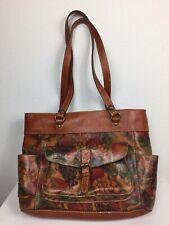 Patricia Nash Designs Fruit Print Leather Shoulder/Tote Bag