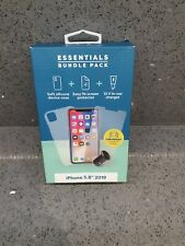 ESSENTIALS BUNDLE PACK IPHONE 5.8 2019  (SCREEN PROTECTOR, CASE, CAR CHARGER)