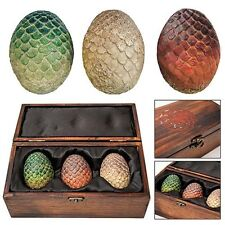 Game of Thrones Dragon Egg Prop Replica Set in Wooden Box