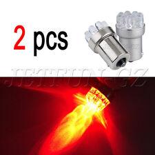 2 X Red Car 1156 BA15S 9 LED Tail Brakup Turn Signal Bulb Lamp Light P21W S25