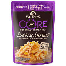 Wellness Natural Pet Food 1242 Pouch CORE Simply Shreds Chicken - Box of 12
