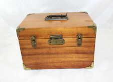 Vintage Camera Wood Case  Fits a Brownie Camera w/Instruction Booklets and Lens