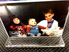 """New listing Saflin Side Load Dual 6"""" x 4"""" Clear Acrylic Sign Solid Base Picture Frames Usa"""