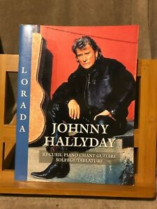Johnny Hallyday Lorada songbook partition chant piano tablatures Hit diffusion