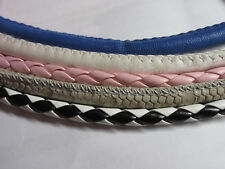 5 Colors Leather Cord faux Braided 5 x 20 cm for 5 Bracelets Jewellery Making