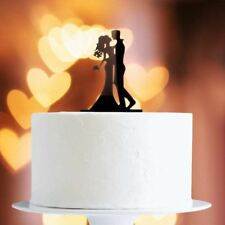 Kissing Couple Cake Topper x1 Baking Pick Decoration Wedding