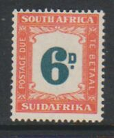 South Africa - 1949, 6d Postage Due - M/M - SG D38