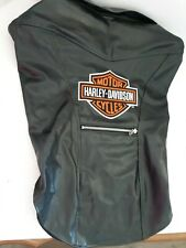 Harley Davidson Faux Leather Dog Jacket Vest LARGE Zipper Pocket